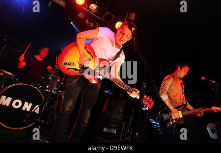 MONA perform live at the Shockwaves NME Awards show 2011 at The Relentless Garage, Islington London, England - 21.02.11 - Stock Photo