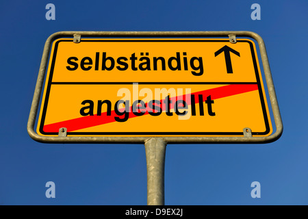 Sign Local end as a symbolic picture for change of employment in independence - Stock Photo