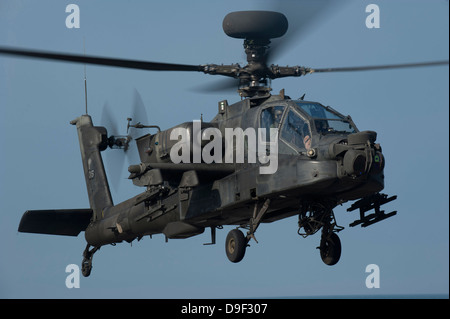 A U.S. Army AH-64 Apache helicopter. - Stock Photo
