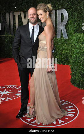 Jason Statham and Rosie Huntington-Whiteley 2011 Vanity Fair Oscar Party at Sunset Tower Hotel - Arrivals West Hollywood, - Stock Photo