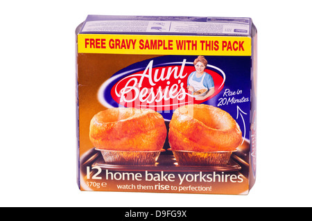 Box Of Aunt Bessies Yorkshire Puddings - Stock Photo