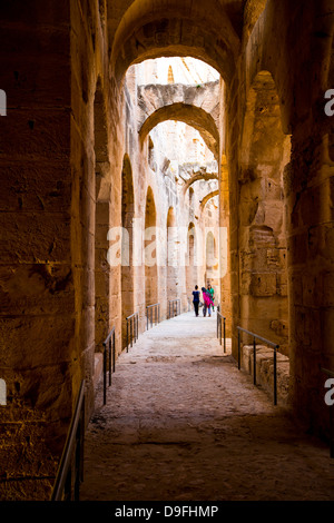 Roman Coliseum in El Jem Tunisia - Stock Photo