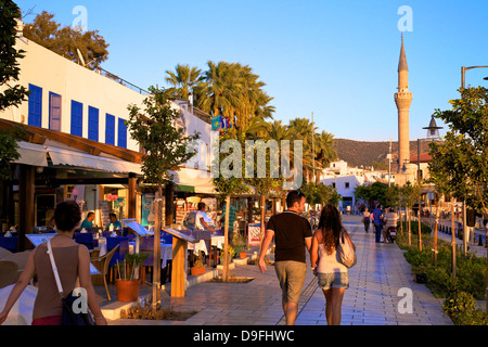Promenade, Bodrum, Anatolia, Turkey Minor, Eurasia - Stock Photo