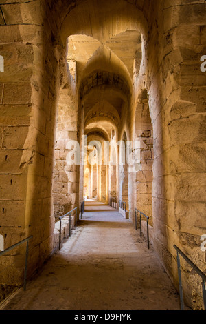Roman Coliseum in El Jem Tunisia - Stock Photo