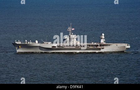 US Navy Amphibious command ship USS Mount Whitney during exercise Baltic Operations June 16, 2013 in the Baltic - Stock Photo