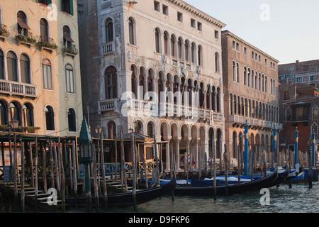 Buildings on the Grand Canal, Venice, UNESCO World Heritage Site, Veneto, Italy - Stock Photo