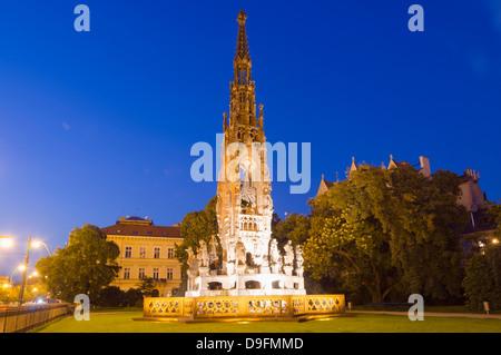 Kranner fountain in Park of National Awakening, by Josef Ondrej Kranner 1844-1846, Prague, Czech Republic - Stock Photo
