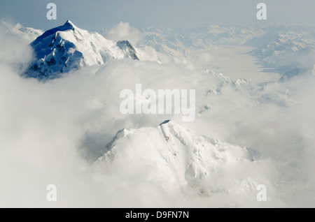 Mount Hunter, Denali National Park, Alaska, USA - Stock Photo