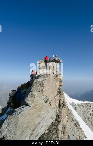Gran Paradiso, 4061m, highest peak entirely in Italy, Gran Paradiso National Park, Aosta Valley, Italian Alps, Italy - Stock Photo
