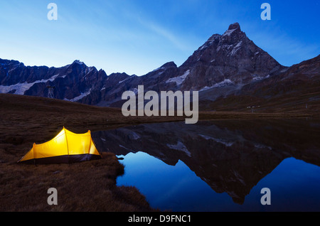 Monte Cervino (The Matterhorn), Breuil Cervinia, Aosta Valley, Italian Alps, Italy - Stock Photo