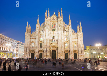 Duomo (Milan Cathedral), Milan, Lombardy, Italy - Stock Photo