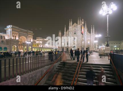 Duomo (Milan Cathedral), Milan, Lombardy, Italy - Stock Photo