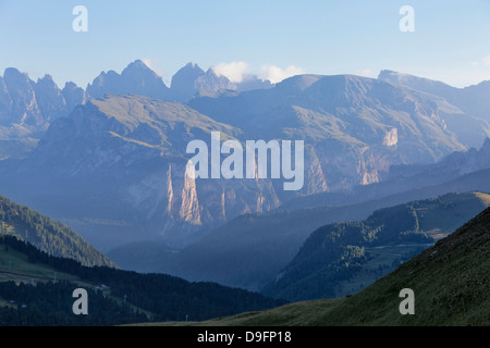 Cirspitzen mountains in the Dolomites, South Tyrol, Italy - Stock Photo