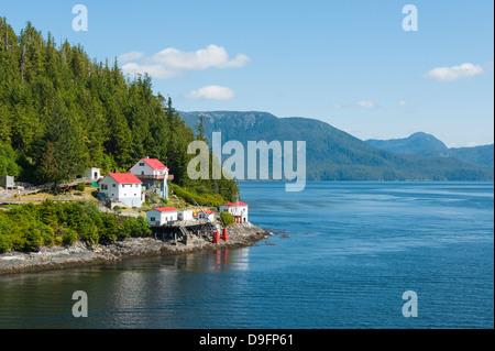 Boat Bluff Lightstation, Inside Passage, British Columbia, Canada - Stock Photo