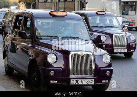 Baku taxis, Azerbaijan, Central Asia - Stock Photo