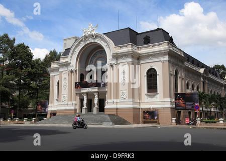 Municipal Theatre, Opera House, Ho Chi Minh City (Saigon), Vietnam, Indochina, Southeast Asia - Stock Photo