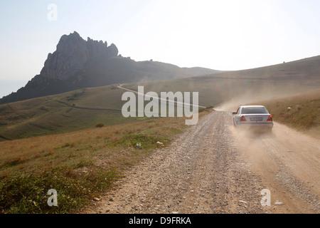 Road to Besh Barmaq mountain, Siyazan, Azerbaijan, Central Asia - Stock Photo
