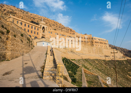 Syrian Orthodox Monastery Mar Mattai, (St. Matthews Monastery) overlooking Mosul, Iraq, Middle East - Stock Photo