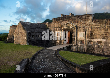 Brimstone Hill Fortress, UNESCO World Heritage Site, St. Kitts, St. Kitts and Nevis, Leeward Islands, West Indies, - Stock Photo
