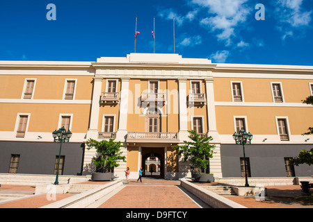 Ballaja Barracks, Museum of Americas folk art, San Juan, UNESCO World Heritage Site, Puerto Rico, West Indies, Caribbean - Stock Photo