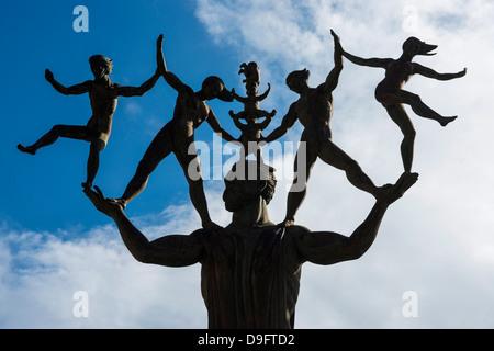 Modern art statue, old town of San Juan, Puerto Rico, West Indies, Caribbean