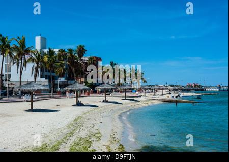 Town beach of La Paz, Baja California, Mexico - Stock Photo
