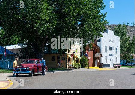 The town of Medora in the Roosevelt National Park, North Dakota, USA - Stock Photo