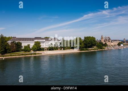 Electoral Palace, Koblenz, Rhine valley, Rhineland-Palatinate, Germany - Stock Photo