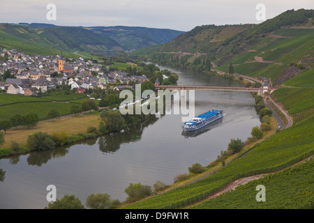 River cruise ship on the River Moselle, Germany - Stock Photo