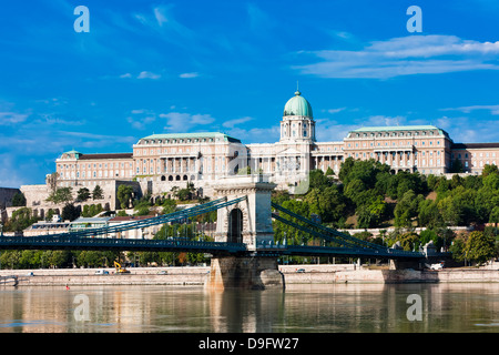 Buda castle above the River Danube, Budapest, Hungary - Stock Photo