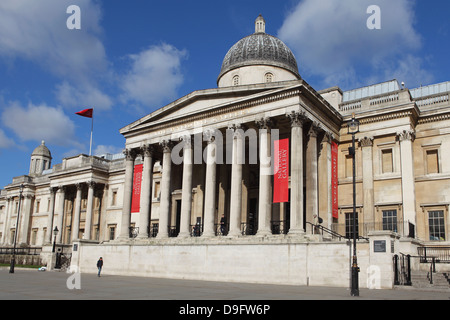 The National Gallery, Trafalgar Square, London, England, UK - Stock Photo