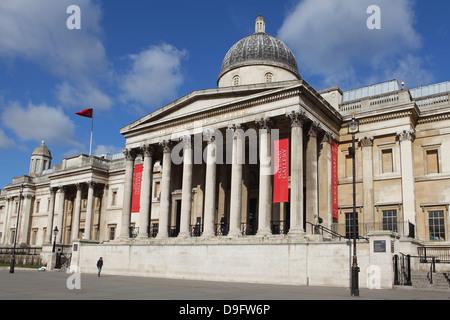 The National Gallery, Trafalgar Square, London, England, UK - Stock Photo
