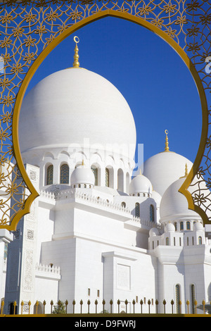 Sheikh Zayed Bin Sultan Al Nahyan Mosque, Abu Dhabi, United Arab Emirates, Middle East - Stock Photo