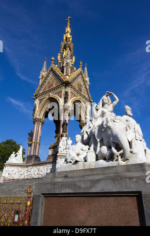 The Albert Memorial, Kensington Gardens, London, England, UK - Stock Photo
