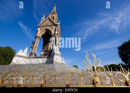 The Albert Memorial, Kensington Gardens, London, England, UK - Stock Photo