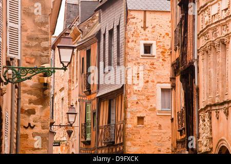 La Grande Rue in the old city of Le Mans, Sarthe, Pays de la Loire, France - Stock Photo