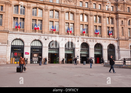 Gare Saint Lazare railway station in Paris, France - Stock Photo