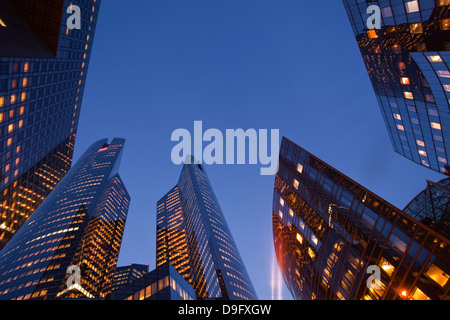 High rise office buildings in the La Defense area of Paris, France - Stock Photo