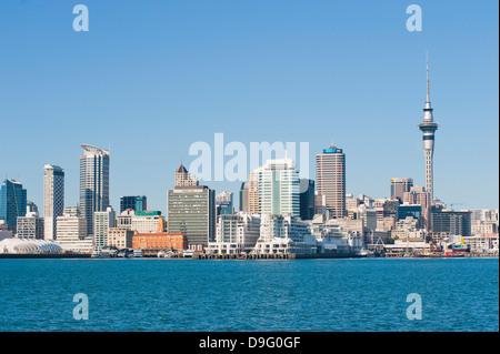 Auckland city skyline, North Island, New Zealand - Stock Photo
