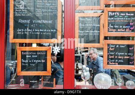 French cafe, Paris - Jan 2012 - Stock Photo