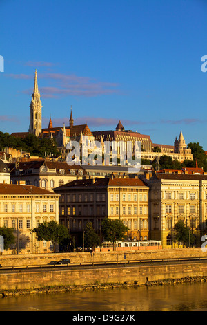 Matyas Church (Matthias Church) and Fisherman's Bastion, Budapest, Hungary - Stock Photo