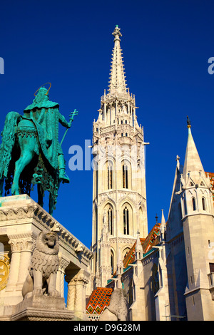 Matyas Church (Matthias Church) at Fisherman's Bastion, Budapest, Hungary - Stock Photo