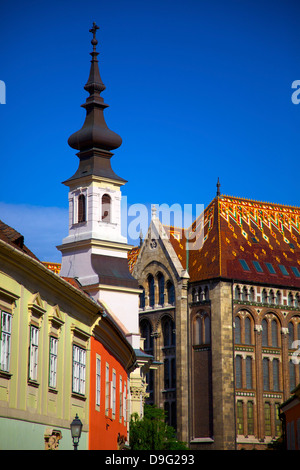 Castle Hill District, Buda, UNESCO World Heritage Site, Budapest, Hungary - Stock Photo