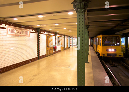 Vorosmarty Ter Metro Station, Budapest, Hungary - Stock Photo