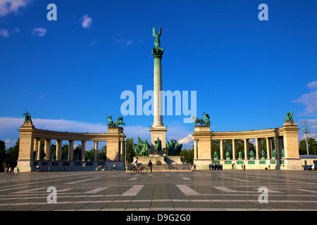 Millennium Monument, Heroes Square, Budapest, Hungary - Stock Photo