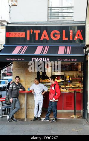 Italian Pizzeria, Paris, France - Jan 2012 - Stock Photo