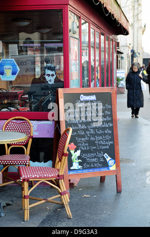 Street cafe, Paris, France - Jan 2012 - Stock Photo