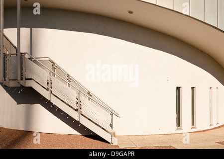 Architectural detail from the exterior of a modern building. Jubilee Campus, Nottingham University, England, UK - Stock Photo
