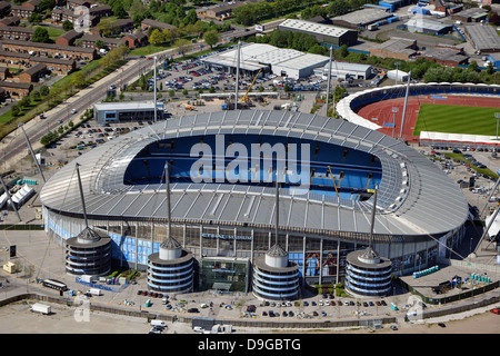 Aerial photograph of Manchester City Football Club - Stock Photo