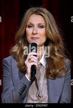 Celine Dion Celine Dion's Momentous Return To The Colosseum Press Conference At Caesars Palace Resort and Casino - Stock Photo